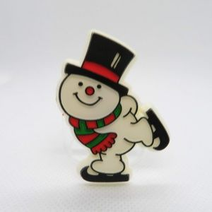 Vtg Snowman Christmas Pin Brooch Hallmark Winter